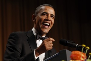 U.S. President Obama speaks at the White House Correspondents Association Dinner in Washington