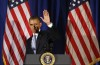 U.S. President Barack Obama waves as he steps off stage after speaking at a Democratic Party fundraiser at the Waldorf Astoria hotel in New York, May 13, 2013. REUTERS/Jason Reed
