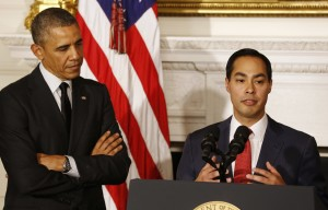 Julian Castro at his appointment to HUD Secretary