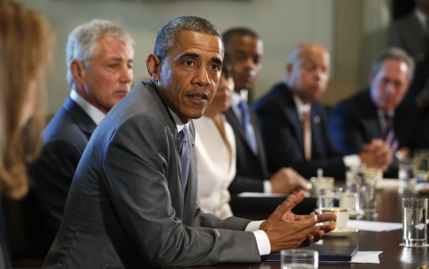 U.S. President Barack Obama meets with members of his cabinet at the White House in Washington