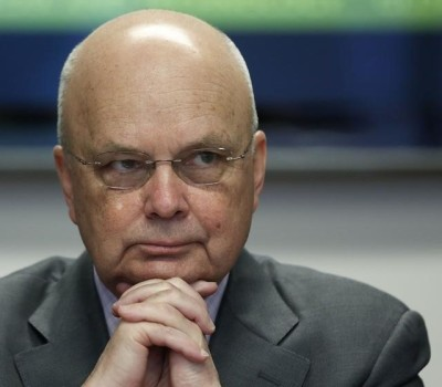 Former National Security Agency (NSA) and Central Intelligence Agency (CIA) Director Michael Hayden listens during a Reuters CyberSecurity Summit in Washington