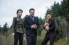 Sook, played by Diana Bang with Aaron, played by Seth Rogen and Dave played by James Franco in Columbia Pictures' The Interview