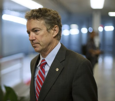 U.S. Senator Rand Paul arrives for votes on the Senate floor at the U.S. Capitol in Washington