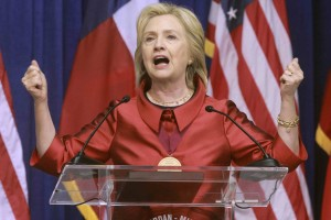 Democratic Presidential candidate Hillary Clinton speaks about voting rights during an appearance at Texas Southern University in Houston, Texas June 4, 2015.  REUTERS/Donna Carson