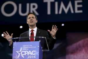U.S. Senator Ben Sasse (R-NE) speaks at the American Conservative Union 2016 annual conference in Maryland March 3, 2016.   REUTERS/Gary Cameron/File photo