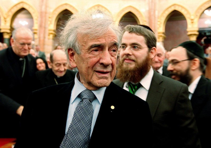 Hungarian-born Nobel Peace Prize winner and Holocaust survivor Elie Wiesel attends a symposium of Jewish-Hungarian solidarity in Budapest's parliament on December 9,2009. REUTERS/Laszlo Balogh/File Photo
