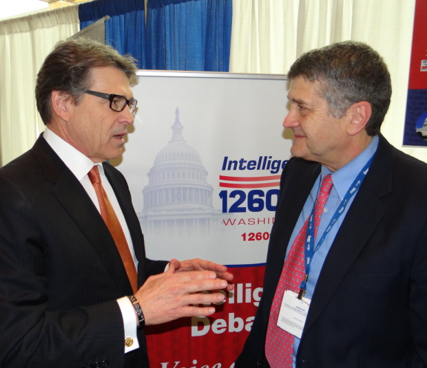 Rick Perry gives Michael Medved the low-down at CPAC this March