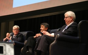 From left to right...Hugh Hewitt, Michael Medved, and Dennis Prager during the Talkers Tour 2012 in Philadelphia.