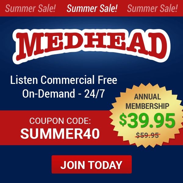 Limited Time Offer! Summer Sale on Medhead Subscriptions--$40 with coupon code summer40