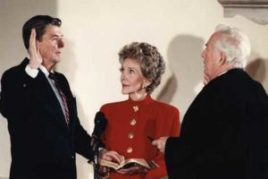 President_Reagan_being_sworn_in_for_second_term_during_the_private_ceremony_held_at_the_White_House_1985