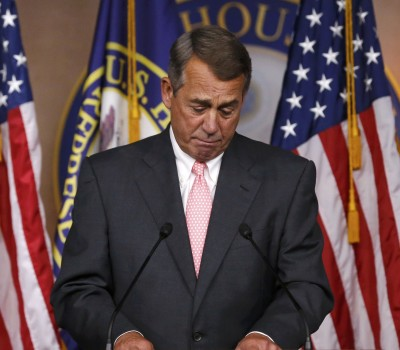 U.S. House Speaker John Boehner (R-OH) publicly announces his resignation as Speaker and from the U.S. Congress at a news conference at the U.S. Capitol in Washington, September 25, 2015.  REUTERS/Jonathan Ernst