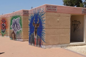 bus stop shelter from bombs, Sderot