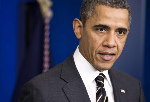 U.S. President Obama calls on Congress to pass a small package of spending cuts and tax reforms during an announcement in the White House briefing room in Washington